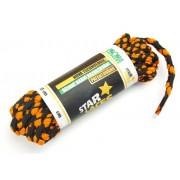 PROMA Tkaničky (šněrovadla) STAR LACES Strong 1123p0111 černo-oranžová 120 cm