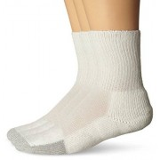 Thorlos TX Calcetines acolchados de tenis (unisex), blanco (3 Pack), Medium