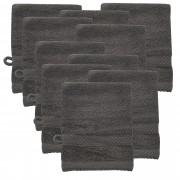 [neu.haus] Set de 10x paños para lavar de rizo - 15x21 cm - Gris