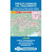 Tabacco WK 013 Karnské Předalpy - Prealpi Carniche 1:25 000