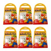 Set of 6 Playskool Carry-Along Activity Pads 6 Crayons & 32 Pages of Activities Per Pad