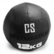 Bravor Wall Ball Bola Medicinal PVC Costuras Duplas 12 kg Preto