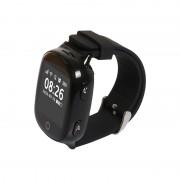 Ceas inteligent pentru seniori WONLEX EW100S Negru cu telefon, localizare GPSWiFi, monitorizare spion si monitorizare ritm cardiac