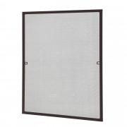 [casa.pro]® Sieťka proti hmyzu 100 x 120 cm - hliníkový rám - hnedý
