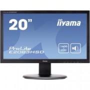 Iiyama LED monitor Iiyama E2083HSD, 49.5 cm (19.5 palec),1600 x 900 px 5 ms, TN LED DVI, VGA, na sluchátka (jack 3,5 mm)