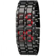 Led Samurai Black Digital Watch - For Men Boys Girls