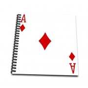 """3dRose db_76550_3 Ace of Diamonds playing card-Red Diamond suit-Gifts for cards game players of poker bridge games-Mini Notepad, 4 by 4"""""""