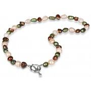JwL Luxury Pearls Náhrdelník z pravých multibarevných perel JL0367