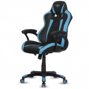 Spirit SILLA OF GAMER RACING BLUE , INCLINACIÓN / ALTURA REGULABLES , BRAZOS XL FIJOS , 5 RUEDAS 360º , HASTA 120KG