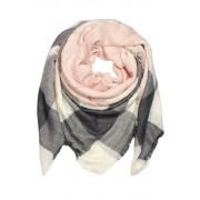 Wintered zimní tkaný šál světle růžová