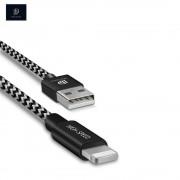Dux Ducis - 2.1A USB auf Lightning Ladekabel Datenkabel Nylon (3m) - Schwarz / Weiss
