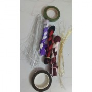 Flower making kit 3 stocking 2 floral tapes golden silver wires