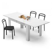 Mobili Fiver Mesa de cocina extensible, modelo Easy, color blanco brillante