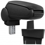 Подлакътник [pro.tec]® Ford Focus I с контейнер за съхранение, Текстил, Черен