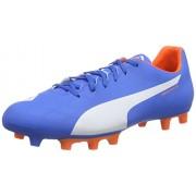 Puma Men's evoSPEED 5.4 FG Electric Blue Lemonade, White and Orange Clown Fish Football Boots - 10UK/India (44.5EU)