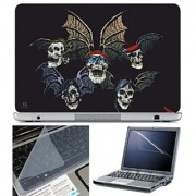 FineArts Laptop Skin 15.6 Inch With Key Guard Screen Protector - with Wings