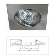 Led beépíthető lámpatest, alumínium, billenős, kocka, MR16 foglalattal, matt króm Life Light led