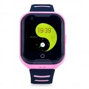 Ceas Inteligent pentru copii WONLEX KT11 4G Roz, cu GPS, apelare video, rezistent la apa, localizare WiFI si monitorizare spion