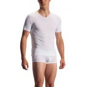 Olaf Benz RED 1950 V Neck Short Sleeved T Shirt White 1-08404/1000