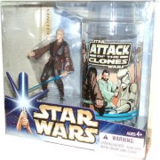 Star Wars Year 2004 Attack Of The Clones Movie Series 4 Inch Tall Exclusive Gift Set Anakin Skywalker With Collectible Star Wars Plastic Cup
