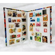Premier 400+ Stamp Album with 200 Different MNH / Used / CTO World Stamps Great Collection Lot