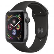 Apple Watch Series 4 GPS 44mm Alumínio Cinzento Sideral com Bracelete Desportiva Preta