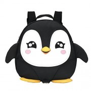 2017 New Style Cute Cartoon Penguin Mini Backpacks with Safety nylon tape for 1-3 Years Old Baby Toddler Walking Safety Backpack Little Kid Boys Girls Anti-lost Travel Bag (Black) by cjc