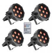 Cameo Flat PAR Tri 3W IR WH Set LED-Leuchte