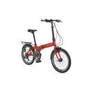 Bicicleta Dobrável Durban Aro 20 Shimano - 7 Velocidades - VERMELHO Durban