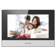"""Monitor videointerfon Wireless IP Hikvision DS-KH6320-WTE1/EU, 7"""", LCD, color, touchscreen, audio, video, 12V, PoE"""