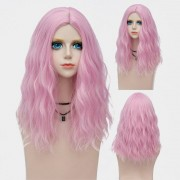 rosegal Medium Center Parting Fluffy Water Wave Synthetic Party Wig