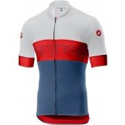 Castelli Prologo VI tricou ciclism bărbați Ivory/Red/Steel Blue M
