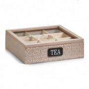 Cutie ceai lemn/sticla/MDF