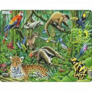 Puzzle Larsen Junglă America de Sud, 70 piese