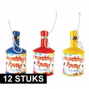 Geen Party poppers champagne 12 stuks