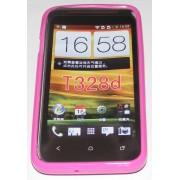 Силиконов гръб ТПУ за HTC Desire VC T328D Розов