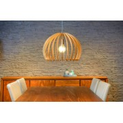 Lucide Verstelbare Hanglamp Bounde 1-LichtsØ50 X H37 Cm - Hout Lichtbruin