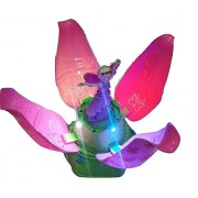 Babytintin Dream Princess Lotus Flower Fairy Musical Doll with Music and 4D Lights for Kids - Random Color