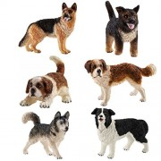 Schleich Dog and Puppy Gift Set - 6 Schleich Dogs and Puppies by SuePerior Living