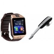 Mirza DZ09 Smartwatch and HM1000 Bluetooth Headphone for SAMSUNG GALAXY JI 4G(DZ09 Smart Watch With 4G Sim Card Memory Card HM1000 Bluetooth Headphone)