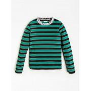 Guess T-Shirt Lurex Rib - Groen multi - Size: 12