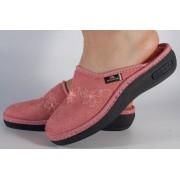 Papuci de casa roz din plus dama/dame/femei (cod 17-136)