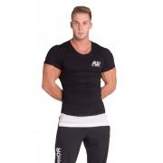 AW Predĺžené tričko 123 čierne - NEBBIA