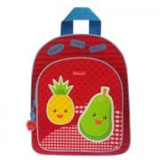 KIDZROOM Veggies - Rugzak rood, Ananas