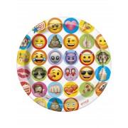 Vegaoo Emoji tallrikar i kartong 23 cm One-size