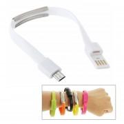 Wearable Pulsera Sync Cable De Carga De Datos, Para Samsung Galaxy S6 / S5 / S IV, LG, HTC, Longitud: 24 Cm (blanco)