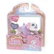 Puppy Surprise Mystery Puppy Pack, More Pups to Love! (Girl Puppy/Purple body, white face)