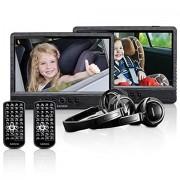 "Lenco DVP-1045 Portable DVD player Montabile a parete 10"" 1024 x 600Pixel Nero lettore DVD/Blu-Ray portatile"