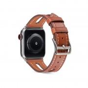 Top-layer Cowhide Leather Watch Strap Replacement for Apple Watch Series 1/2/3 38mm / Series 4/5 40mm - Brown