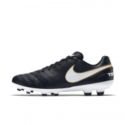 Nike Tiempo Genio II Leather Fußballschuh für normalen Rasen - Schwarz